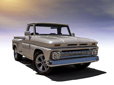 Truck Digital Art - '66 Chevy Pickup by Douglas Pittman