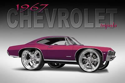 Cruiser Photograph - 67 Chevrolet Impala by Mike McGlothlen