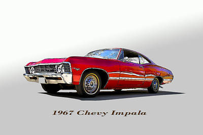 67 Chevy Art Print by John Hix
