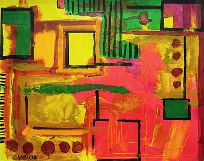 Scrubbing Painting - Untitled by Teddy Campagna