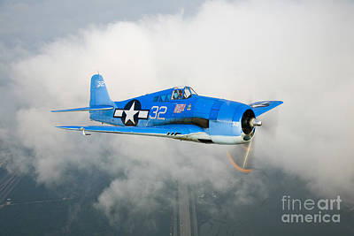 Hellcat Photograph - A Grumman F6f Hellcat Fighter Plane by Scott Germain