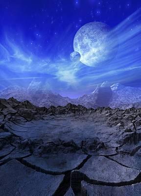 Alien Planet, Artwork Art Print by Victor Habbick Visions