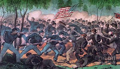 American Civil War, Battle Art Print by Photo Researchers