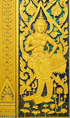 Antique Thai Temple Mural Patterns Art Print by Kanoksak Detboon