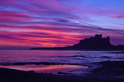 Northumbrian Photograph - Bamburgh Castle by Gary Finnigan
