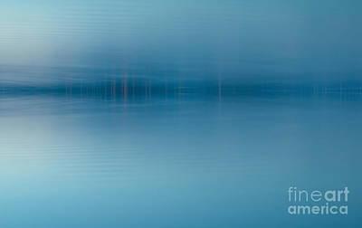 Blue Lake Art Print by Odon Czintos