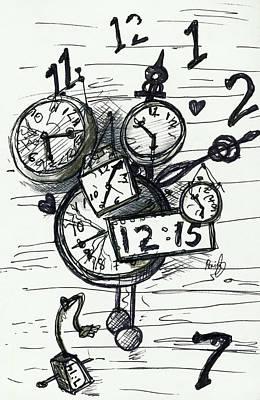 Painting - Broken Clocks by Rene Capone