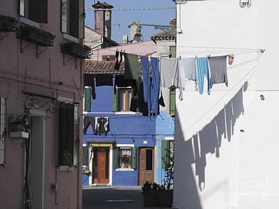 Venise Photograph - Burano.venice by Bernard Jaubert
