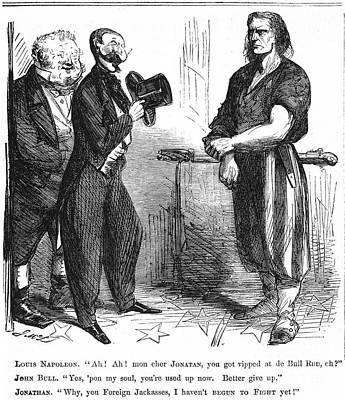 Civil War Cartoon, 1861 Art Print by Granger