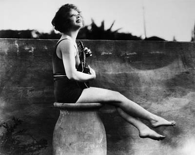 Ukelele Photograph - Clara Bow (1905-1965) by Granger