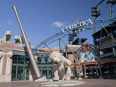 Comerica Park Art Print by Cindy Lindow
