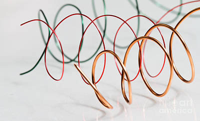 Enameled Copper Photograph - Enamel Coated Copper Wire by Photo Researchers, Inc.
