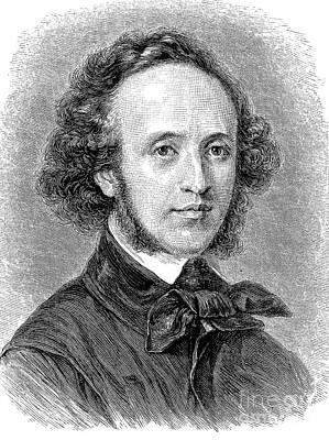 Felix Mendelssohn Art Print by Granger