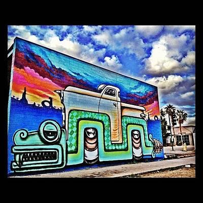 Dragon Photograph - #graffiti #streetart #phxstreetart by CactusPete AZ