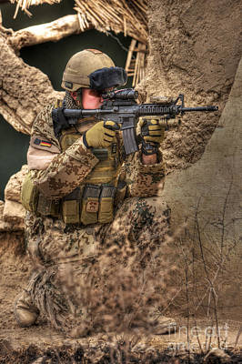 Photograph - Hdr Image Of A German Army Soldier by Terry Moore