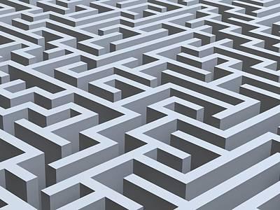 Pathway Digital Art - Maze, Artwork by Pasieka