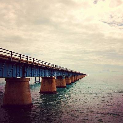 Travel Photograph - 7 Miles Bridge, Fl by Joel Lopez