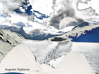 Digital Art - Norway Space Landscape by Augusta Stylianou
