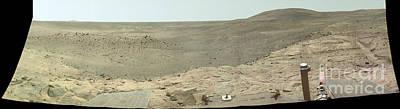 Panoramic View Of Mars Art Print by Stocktrek Images