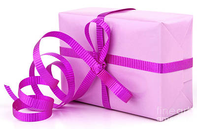 Pink Gift Art Print by Blink Images