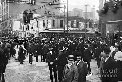 Telephone Poles Photograph - Presidential Campaign, 1908 by Granger