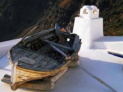 Art Print featuring the photograph Santorini Greece by Colette V Hera  Guggenheim