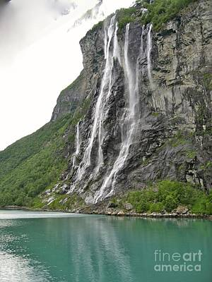 Photograph - 7 Sisters Water Falls Norway by Phyllis Kaltenbach