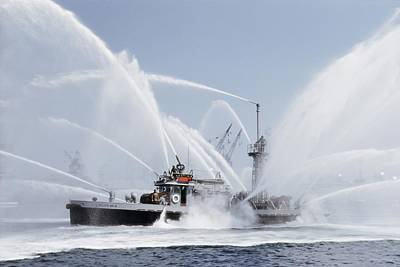 Fireboat Photograph - Untitled by J Baylor Roberts