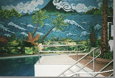 Painting - Waterpark Mural by Igor Postash