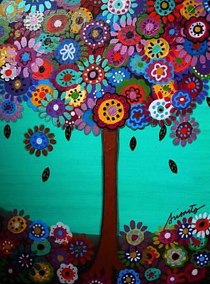 Mexico Painting - Tree Of Life by Pristine Cartera Turkus