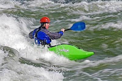 Current Control Photograph - Kayaking by Elijah Weber