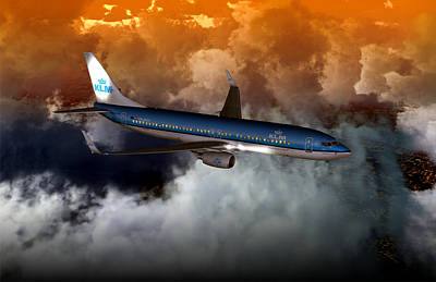 Digital Art - 737ng Klm01 by Mike Ray