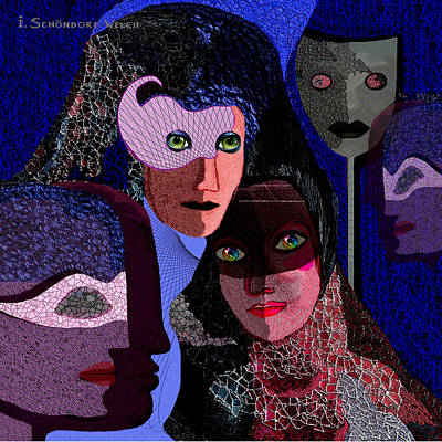 Digital Art - 740 - Carnival by Irmgard Schoendorf Welch