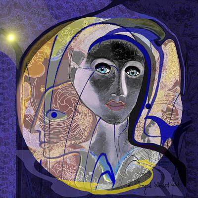 744 - Purple Woman Art Print by Irmgard Schoendorf Welch