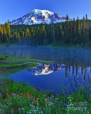Photograph - #79 Sunrise At Reflection Lakes by Jack Moskovita