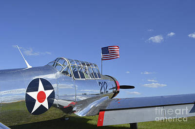 A Bt-13 Valiant Trainer Aircraft Art Print by Stocktrek Images