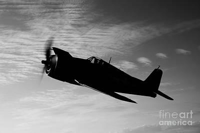 Grumman F6f Hellcat Photograph - A Grumman F6f Hellcat Fighter Plane by Scott Germain