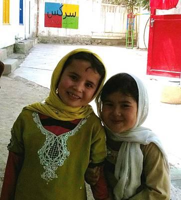 Photograph - Afghan Children Circus  by Fareeha Khawaja