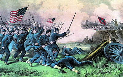 Photograph - American Civil War, Battle by Photo Researchers