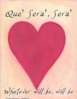 Que Sera Wall Art - Pastel - Artwithheart.com by Patricia 'Amber' Sorenson