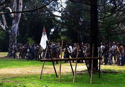 Historical Re-enactments Painting - Battle Ground by Pristine Cartera Turkus