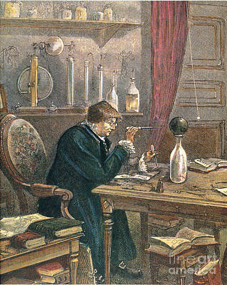 Benjamin Franklin, American Polymath Print by Science Source