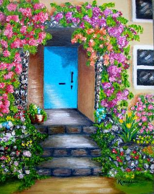 Blue Door Art Print by Kay Mashburn