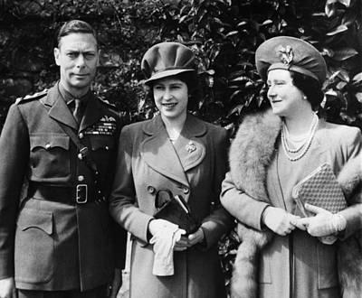 British Royal Family. From Left British Art Print by Everett