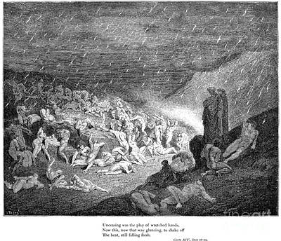Drawing - Dantes Inferno by Gustave Dore