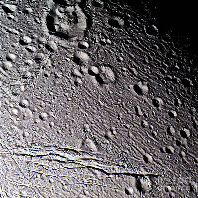 Photograph - Enceladus Surface by NASA / Science Source