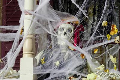 Graveyard Photograph - Fall  Halloween On Tillson Street by LeeAnn McLaneGoetz McLaneGoetzStudioLLCcom