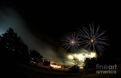 Fireworks Art Print by Angel  Tarantella