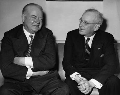 Former President Herbert Hoover Art Print by Everett