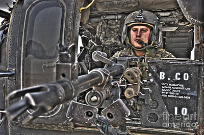 Photograph - Hdr Image Of A Uh-60 Black Hawk Door by Terry Moore